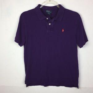 Polo by Ralph Lauren Boys Purple Polo Short Sleeve